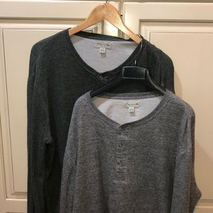 J crew knit Henley long sleeve bundle
